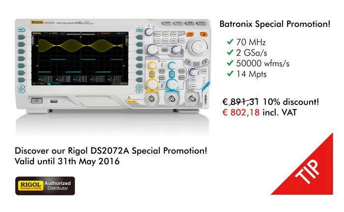 Picture: Get a 10% Special Batronix Discount for the DS2072A now!