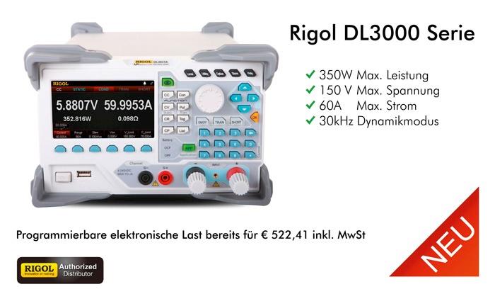 Bild: Die neuen programmierbaren elektronischen Lasten von Rigol
