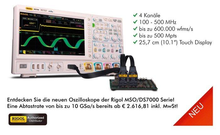 Bild: Die neue Rigol MSO/DS7000 Serie