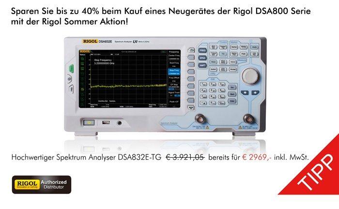 Bild: Die neue Rigol DSA800 Aktion!