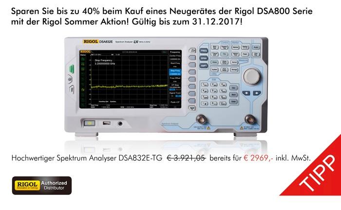 Bild: Die neue Rigol DSA800 Sommer Aktion!