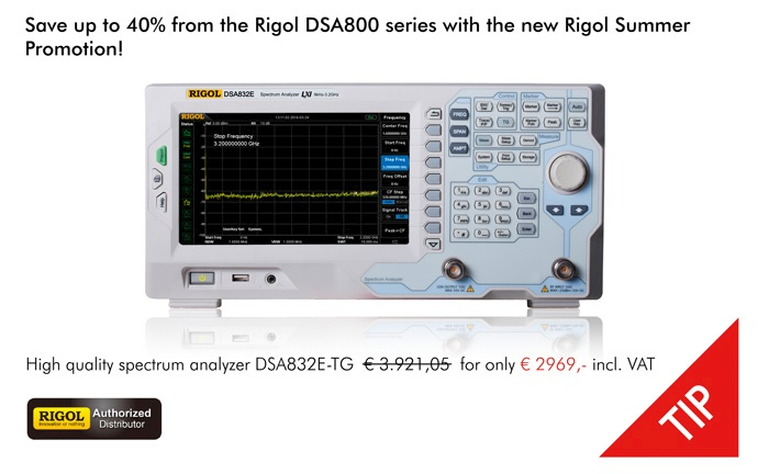 Picture: The new Rigol DSA800 Summer Promotion!