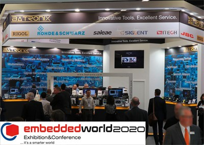 Picture: Exhibition stand and competition at the Embedded World in Nuremberg