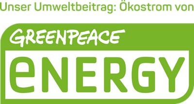 Bild: Wir nutzen 100% Green Energie