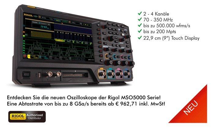 Bild: Die neue Rigol MSO5000 Serie