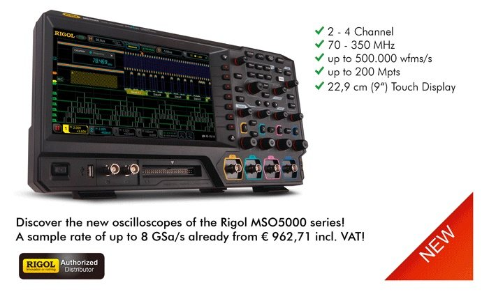 Picture: The new Rigol MSO5000 series