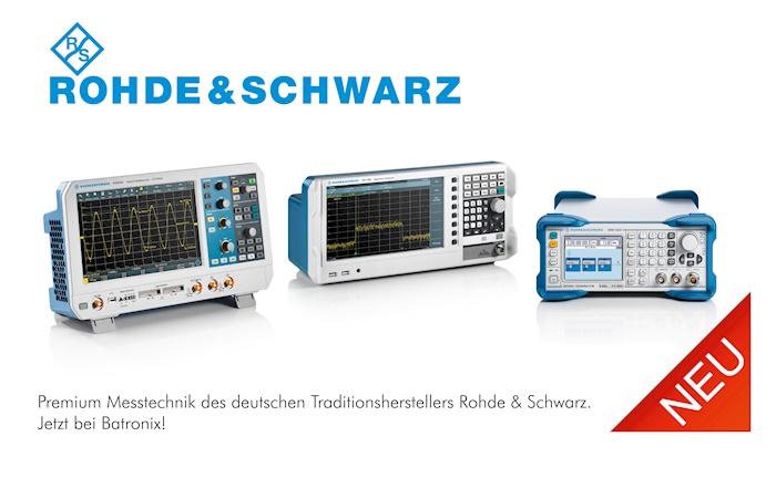 Bild: Rohde & Schwarz Messtechnik jetzt bei Batronix!