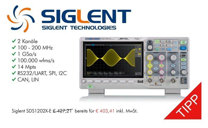 Bild: Siglent SDS1202X-E Sonderaktion