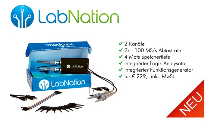 Bild: Die neuen hochwertigen PC basierten DSO von LabNation sind da!