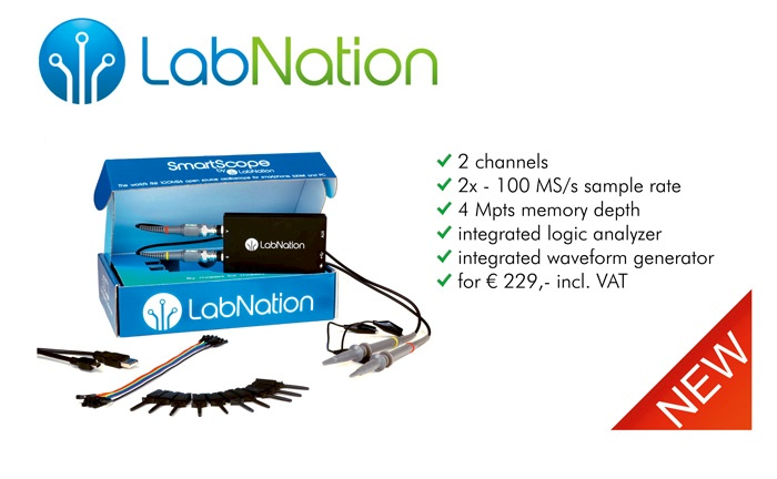 Picture: The new high quality PC based DSO from LabNation. Now at Batronix!
