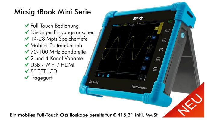 Bild: Die neuen mobilen Full-Touch Oszilloskope von Micsig