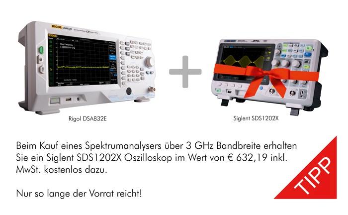 Bild: Spektrum Analyser Sommeraktion. Kostenloses Oszilloskop!