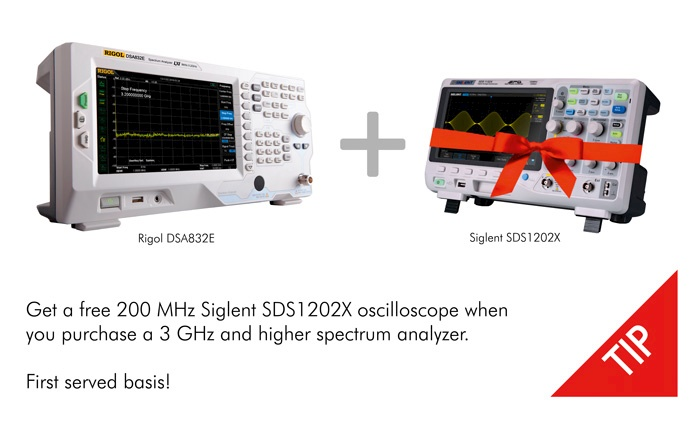 Picture: Spectrum Analyzer Special Sommer Promotion. Free oscilloscope!