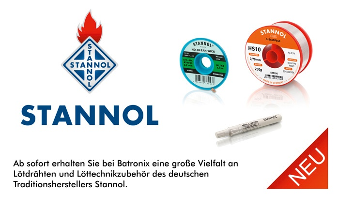 Bild: Stannol Lötdrähte und Löttechnikzubehör neu bei Batronix!