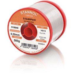 Stannol Soldering Wire HS10, Sn60Pb40, ⌀0.5mm, 500g