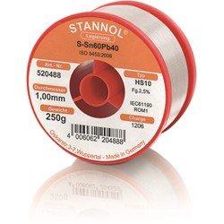 Stannol Soldering Wire HS10, Sn60Pb40, ⌀1.0mm, 250g