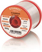 Stannol Lötdraht HS10, Sn60Pb40, ⌀1.0mm, 500g