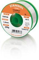 Stannol Lötdraht HS10, Sn99Cu1 (Sn99.3 Cu0.7), ⌀1.0mm, 250g