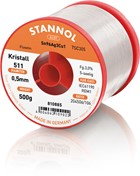 Stannol Soldering Wire Kristall 511, TSC305 (Sn96.5 Ag3 Cu0.5), ⌀0.5mm, 500g