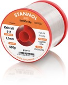 Stannol Soldering Wire Kristall 511, TSC0307 (Sn99 Ag0.3 Cu0.7), ⌀1.0mm, 500g
