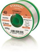 Stannol Lötdraht Kristall 511, Sn99Cu1 (Sn99.3 Cu0.7), ⌀0.5mm, 250g