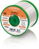 Stannol Lötdraht Kristall 511, Sn99Cu1 (Sn99.3 Cu0.7), ⌀1.0mm, 500g