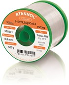 Stannol Soldering Wire Trilence 3500, TSC305 (Sn96.5 Ag3 Cu0.5), ⌀0.8mm, 500g