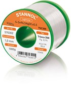 Stannol Soldering Wire Trilence 3500, TSC305 (Sn96.5 Ag3 Cu0.5), ⌀1.0mm, 1000g