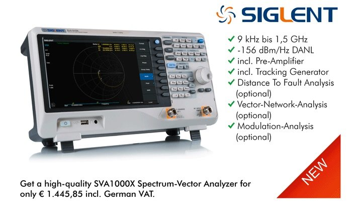 Picture: The new Spectrum- vector analyzer from Siglent