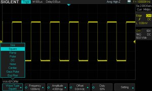Picture: Built-in Arbitrary Waveform Generator (software option)