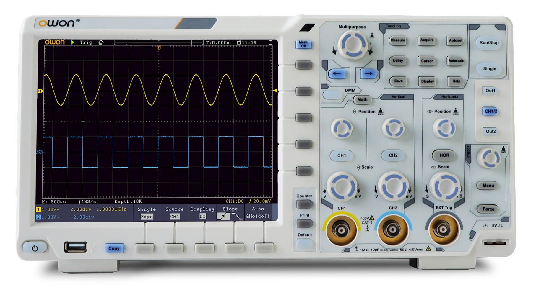 Owon Oscilloscope Display : Owon xds digital oscilloscope special offer
