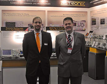 Meeting with Bob Bluhm (Rigol) at the Batronix booth