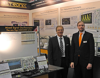Meeting with Wolfgang Bartels (Rigol) at the Batronix booth
