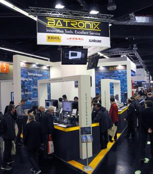 Batronix Messestand auf der electronica 2016